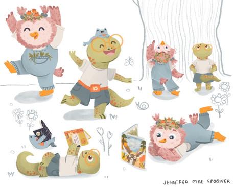 MATS7 2020 Character Design Poses Jennifer Mae Spooner