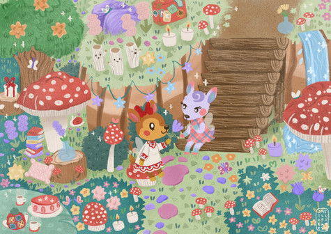 Fairy Garden Animal Crossing Jennifer Mae Spooner