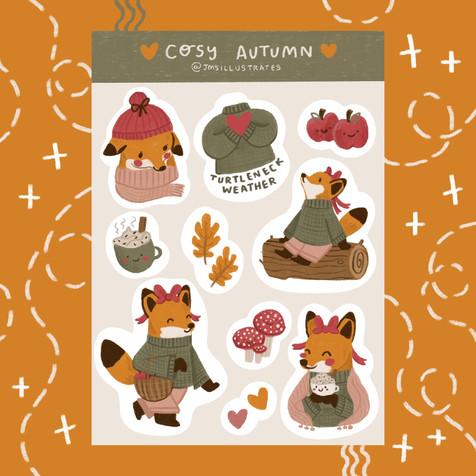 Cosy Autumn Sticker Sheet Jennifer Mae Spooner