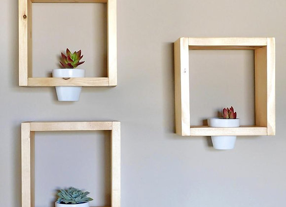 Wooden Wall Planter - Wall Art