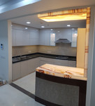 Kitchen with buffet counter