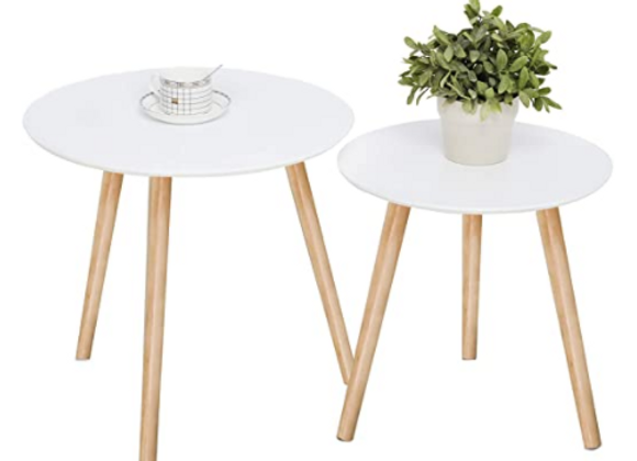 White coffee table set of 2