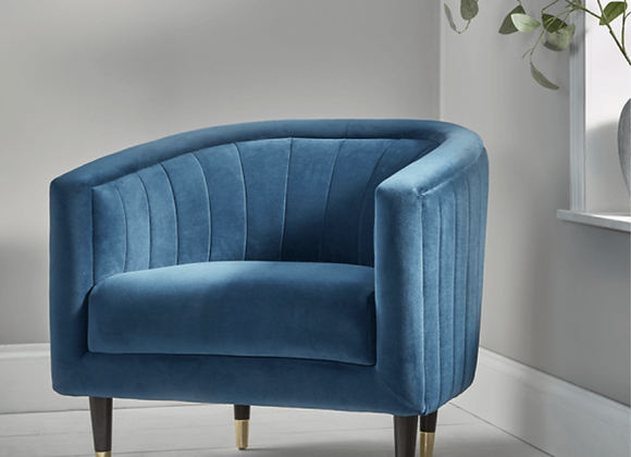 Fluted Velvet Chair
