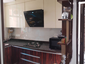 Kitchen - glass and polyster polish
