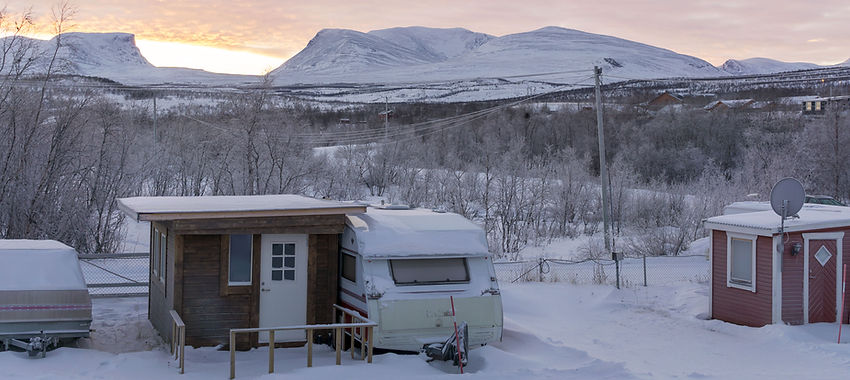 Winter in Lapland, Abisko, Sweden