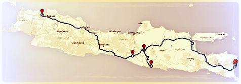Doprava a transport v Indonésii: Itinerář Jáva