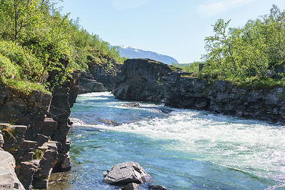 Backpacking.cz - Abisko Lapland Norrbotten River Abiskojokk
