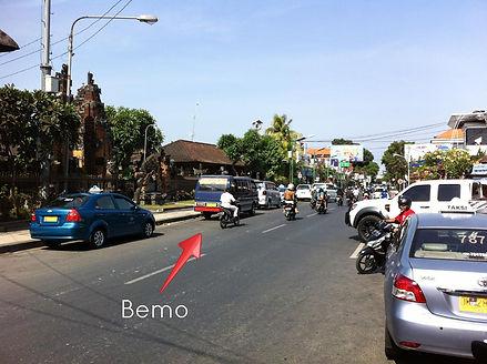 Doprava a transport v Indonésii: Bemo corner Kuta