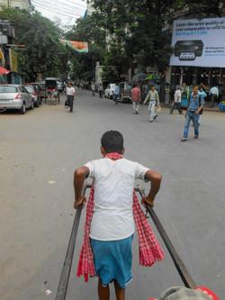 Lidská rikša, Kalkata