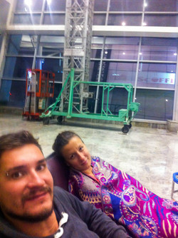 Night at the airport in Goa