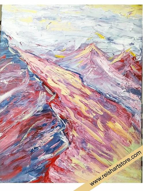 Original Painting - Soft Mountains