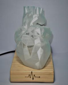 Geometric Heart Lamp