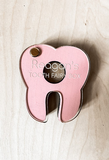 Personalized Wooden Tooth Fairy Holder
