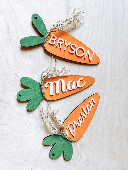 Carrot Easter Basket Tag