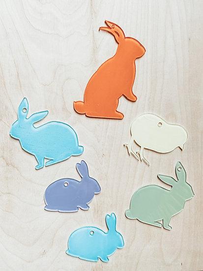 Acrylic Easter Basket Tags