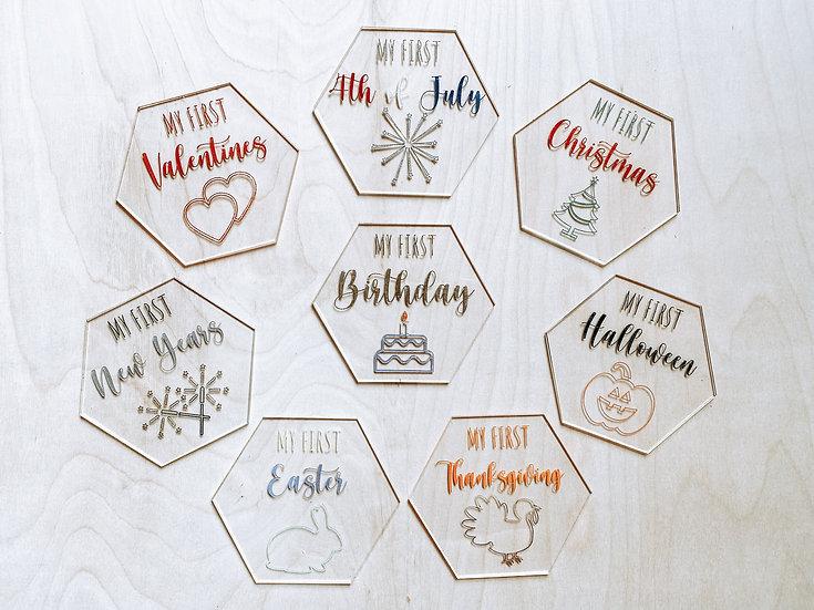 Acrylic Holiday Milestones