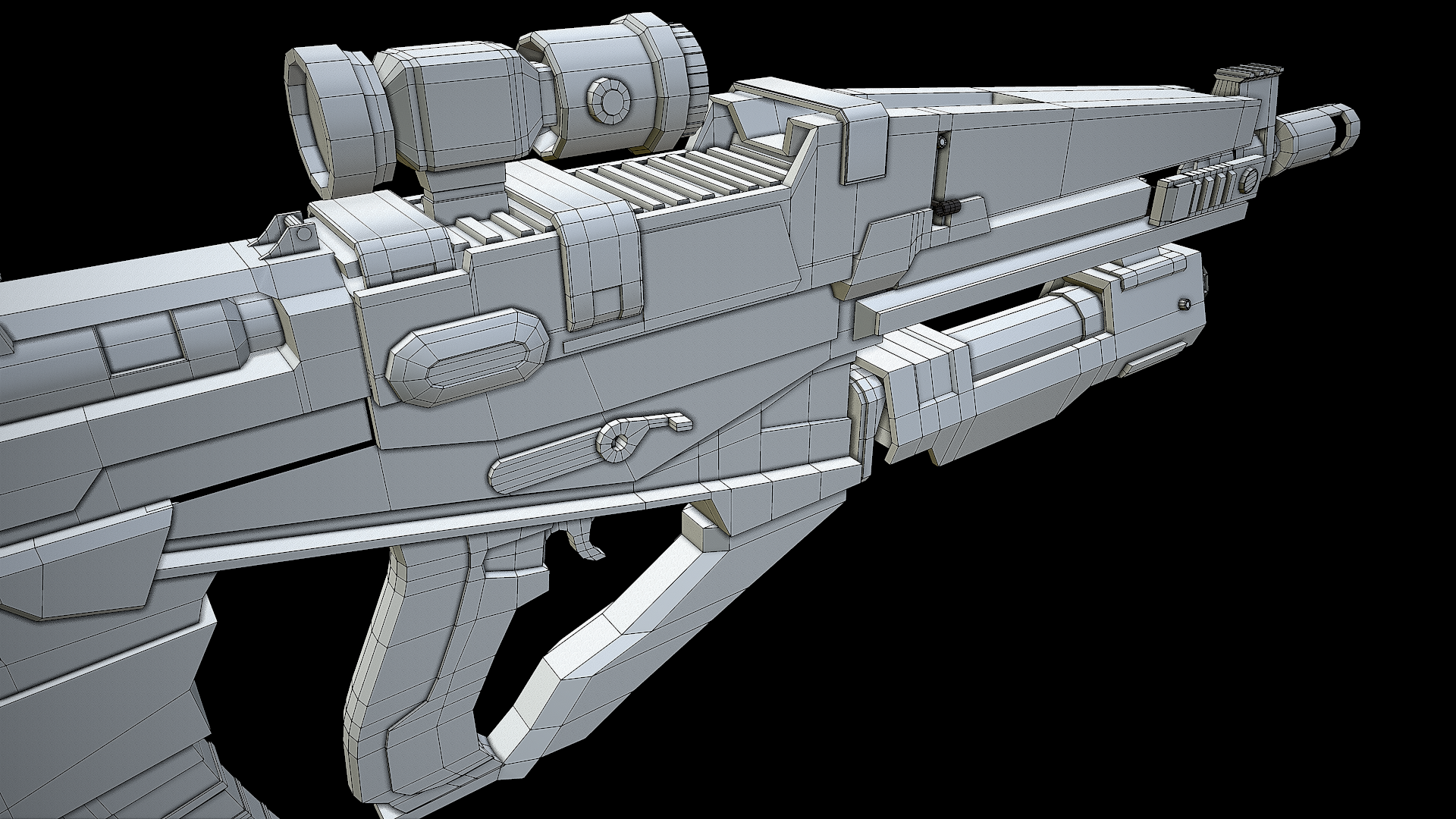 Rifle Wireframe