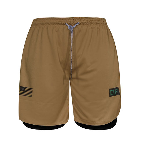 Dux Overlay Shorts - Khaki