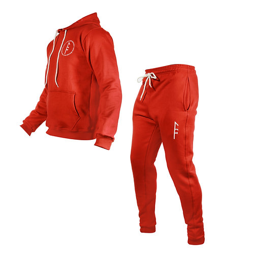 Womens Code Fleece Set-Red