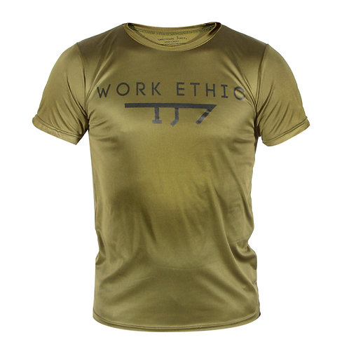 Mens Work Ethic Interlock Tee-OD