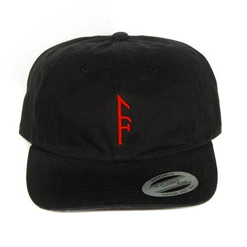 """Black """"Dad Hat"""" Red Vector...."""