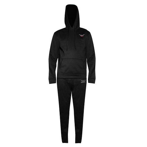 S-9 Micro Fleece Sweatsuit - Black