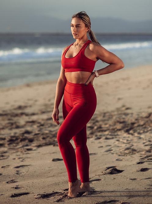 Freyja Legging - Deep Red