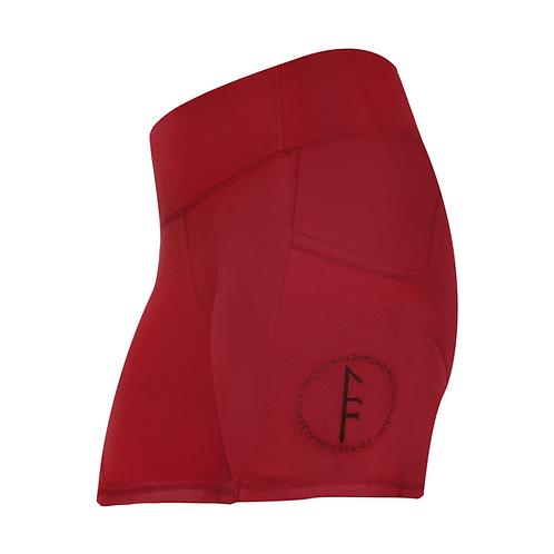 Bree Side Pocket Booty Shorts - Maroon