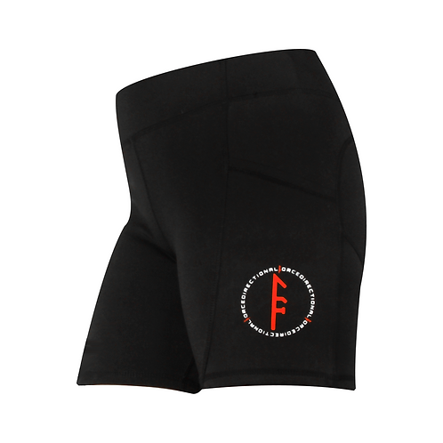 Bree Side Pocket Booty Shorts - Black