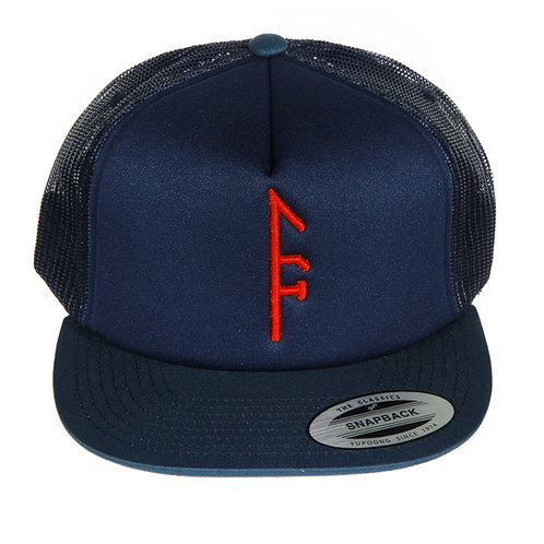 Blue Mesh SnapBack...Red Vector