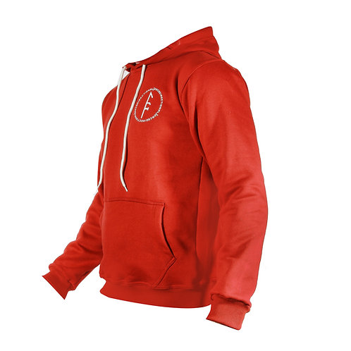 Womens Code Fleece Hoodie-Red