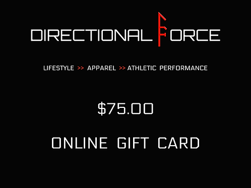 75.00 Online Giftcard