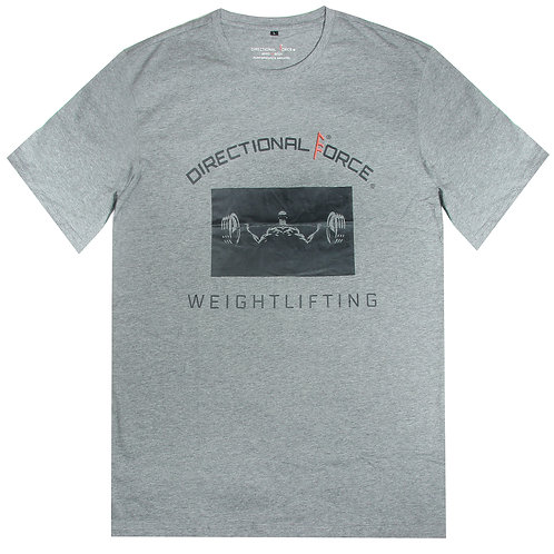 Gray Directional Force Weight Lifting Tee
