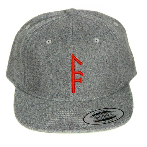 Gray Wool SnapBack...Red Vector