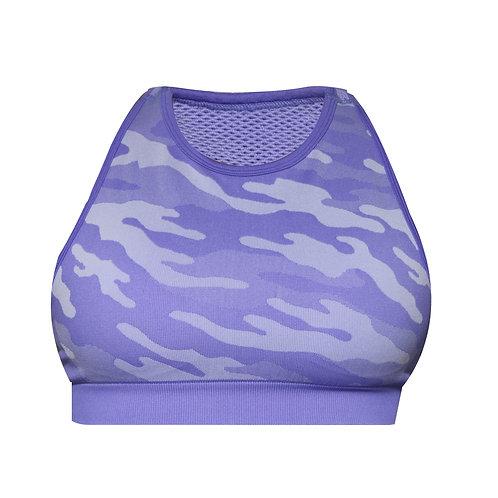 Bae Purple Camo Sports Bra