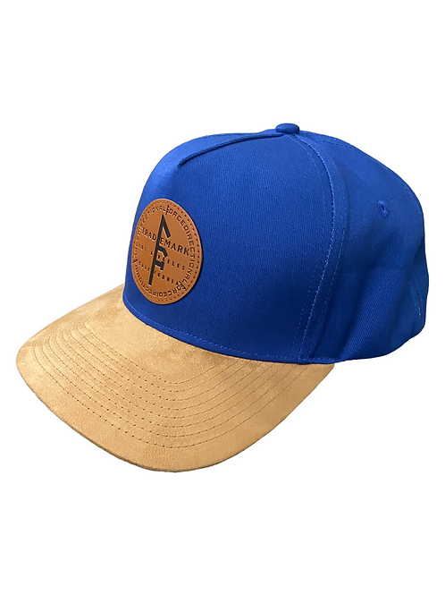 Embossed Leather Snapback