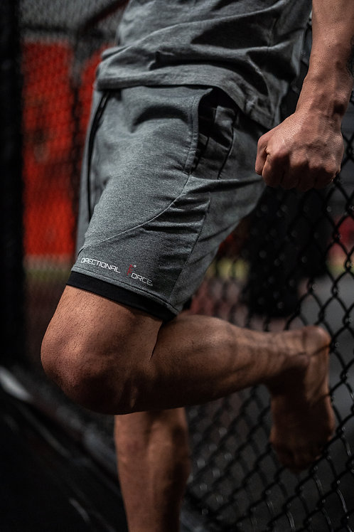 "Epitome 16"" Performance Shorts-Gray"