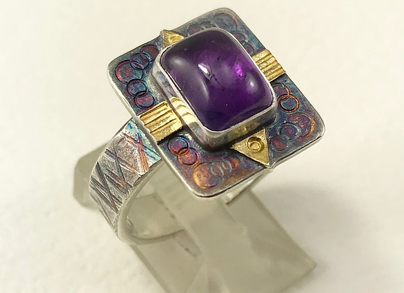 Rectangular Amethyst ring