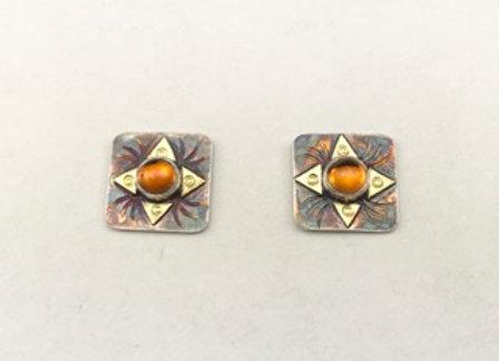 Citrine post style earrings