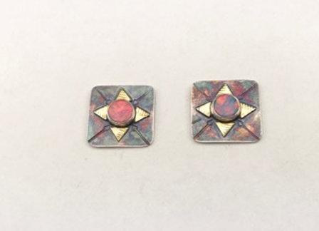 Opal post earrings