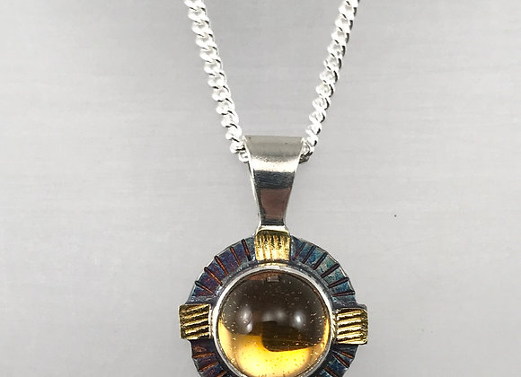 Round Citrine Necklace