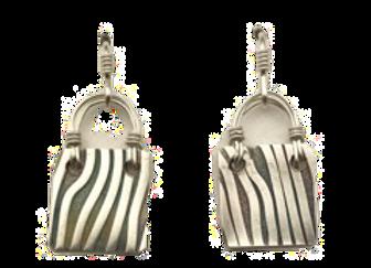 Petite rectangle earrings