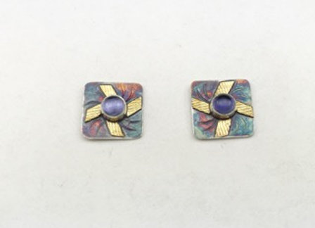 Iolite post style earrings
