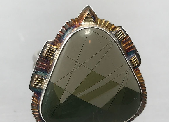 Italian Picture Jasper ring