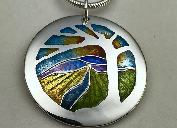 Champleve Enamel Landscape necklace