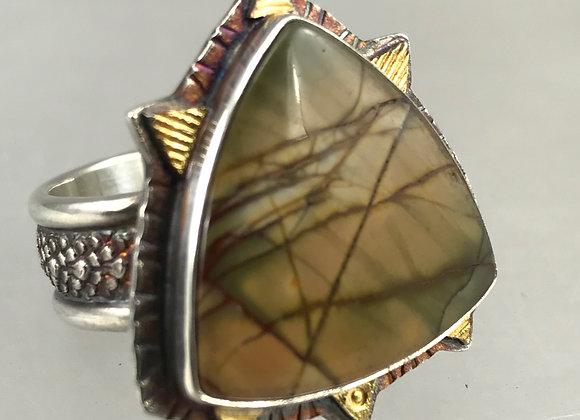 Picasso Jasper Stone Ring