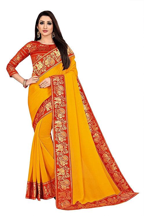 Anand Sarees chiffon with blouse piece Saree