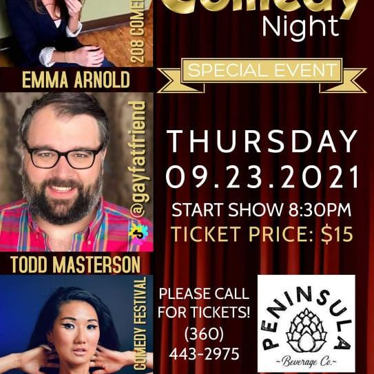 Peninsula Comedy Night: Hosting for Emma Arnold