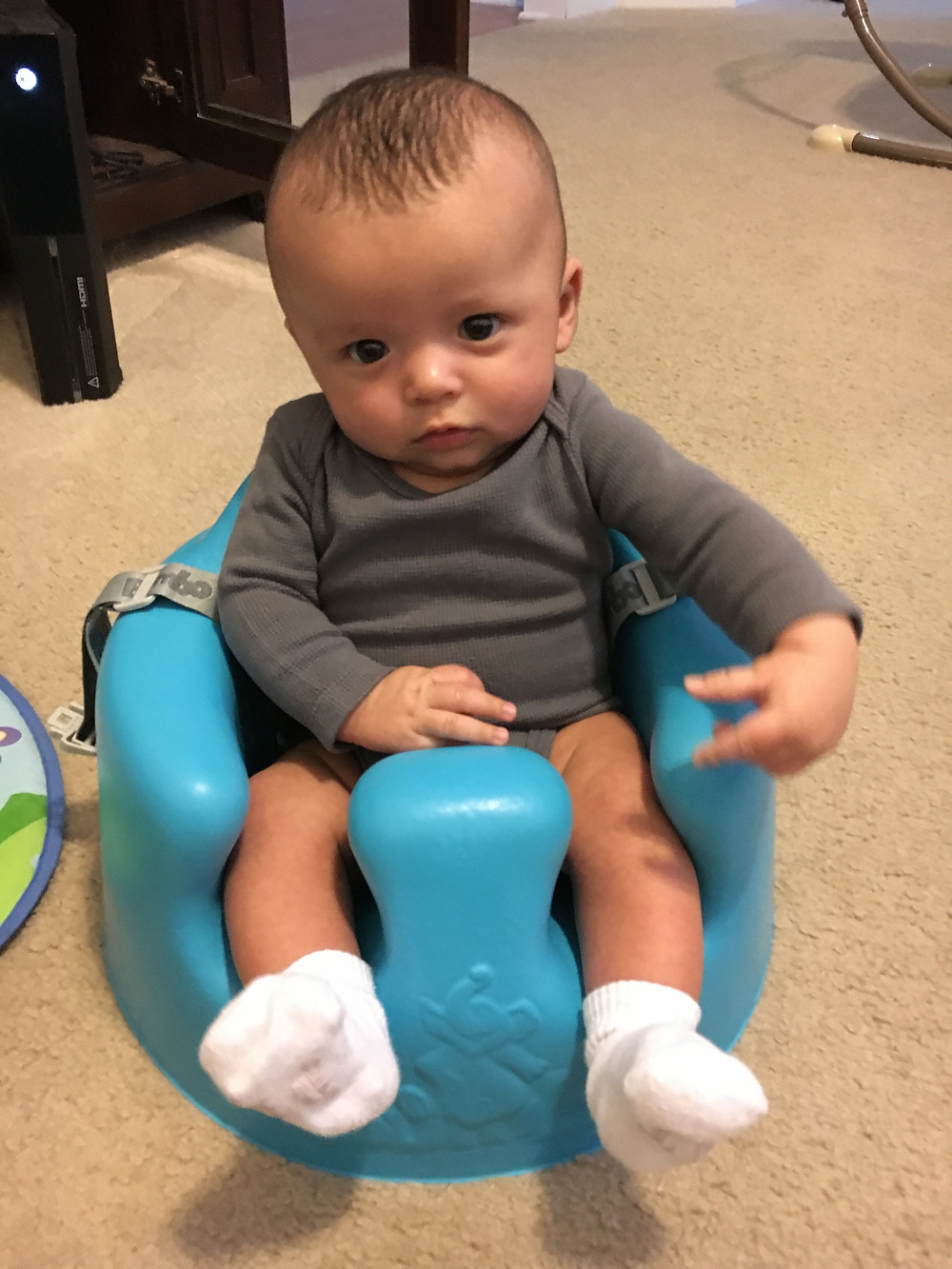 Sitting up like a big boy!