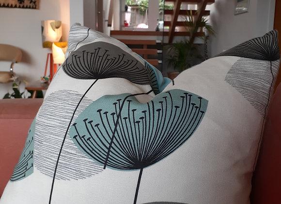 Large Velvet & Sanderson Dandelion Clocks Linen cushion